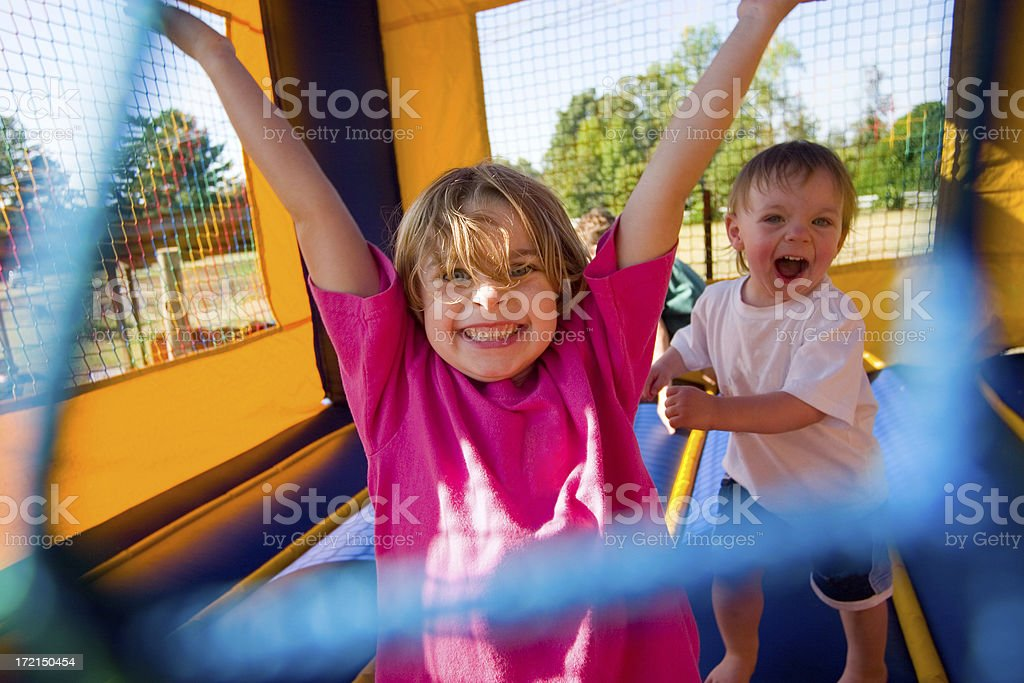 Young Kids Having a Great Time stock photo