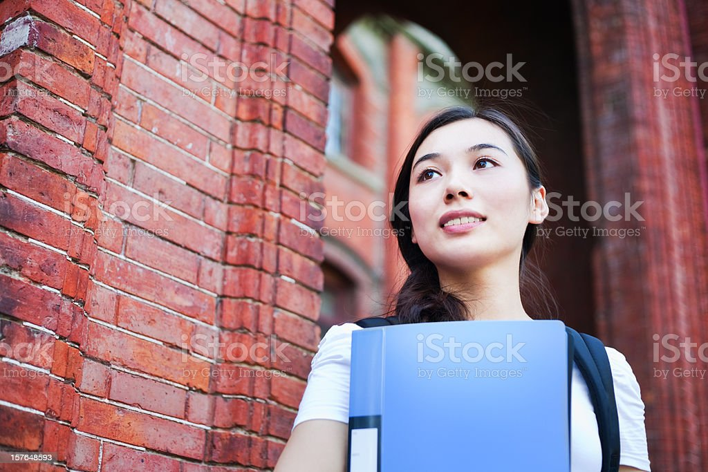 Young lady back to school royalty-free stock photo