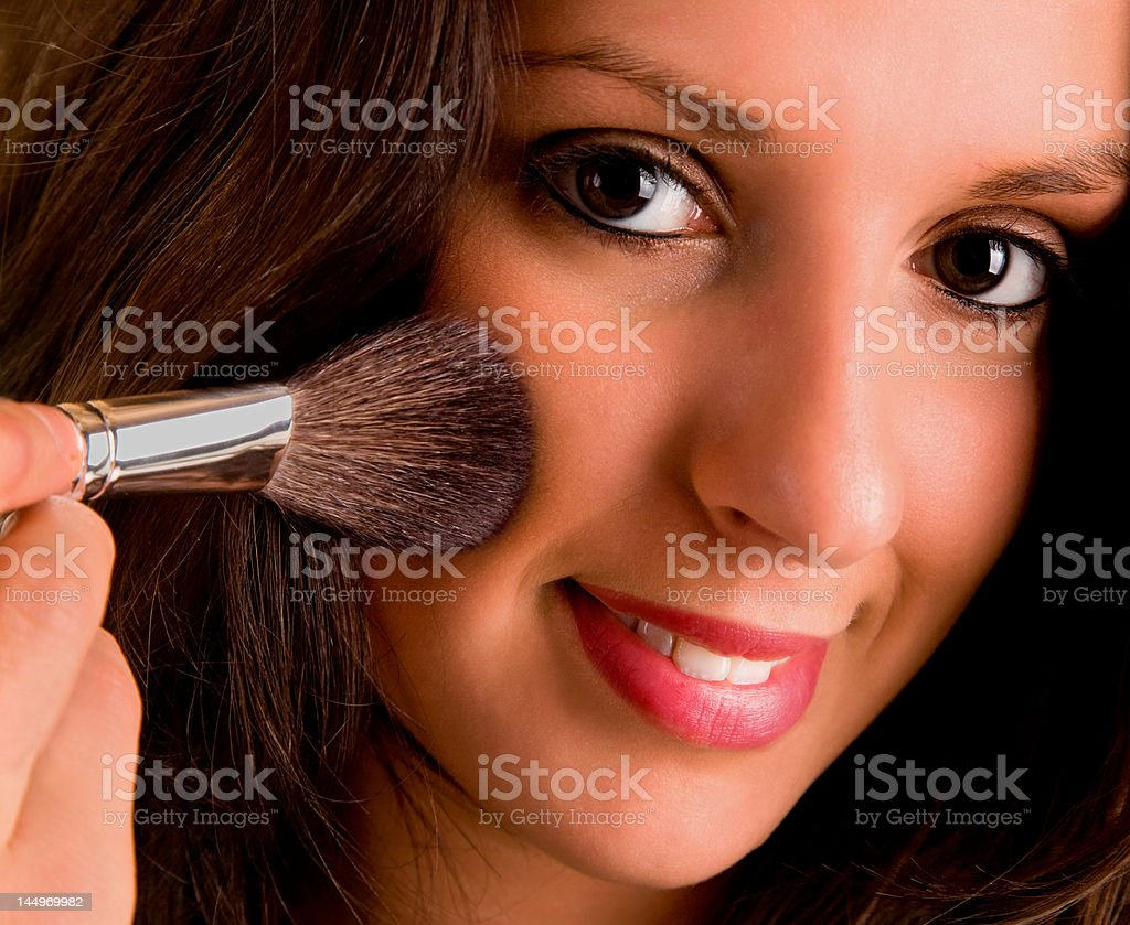 Young Lady Blushing her Cheek royalty-free stock photo
