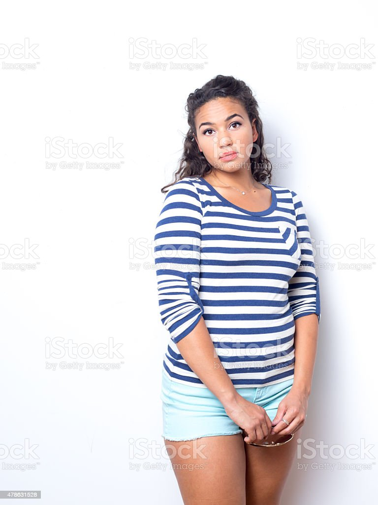 Young Lady In Fun Summer Outfit stock photo