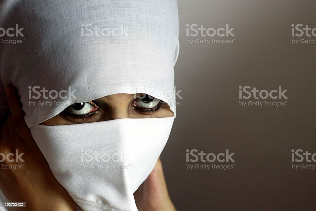 Young lady in hijab stock photo