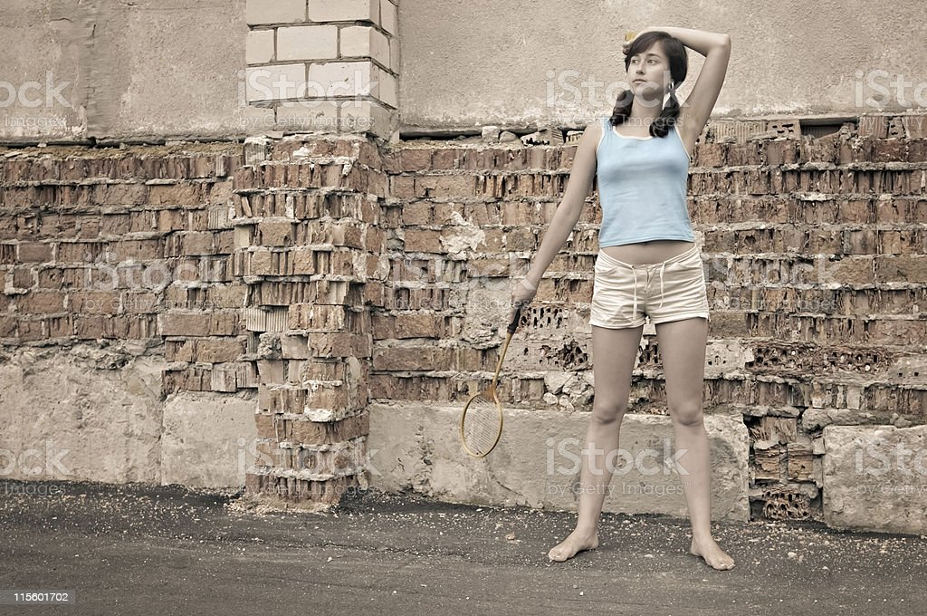Young lady outdoors royalty-free stock photo