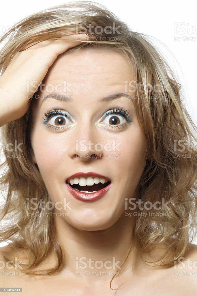 young lady surprized royalty-free stock photo