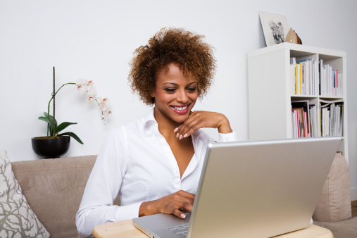 Young Lady With Laptop Stock Photo - Download Image Now