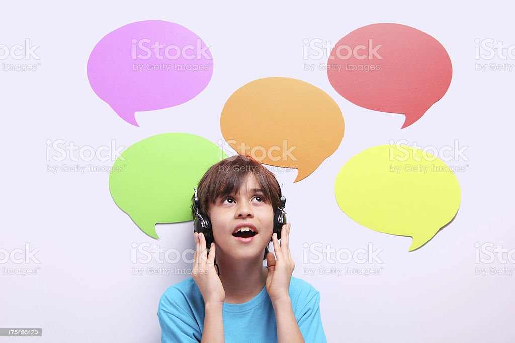 Young Language Learner royalty-free stock photo