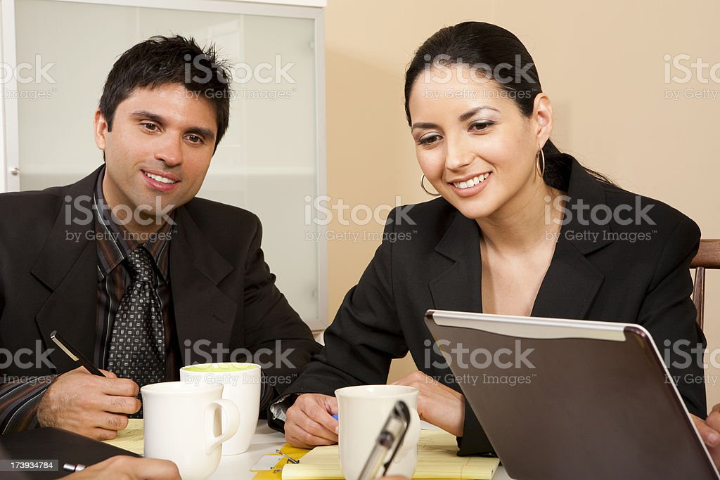 Young Latin Business Partners royalty-free stock photo