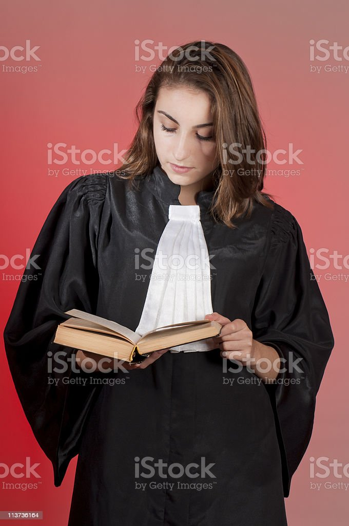 Young law school student royalty-free stock photo