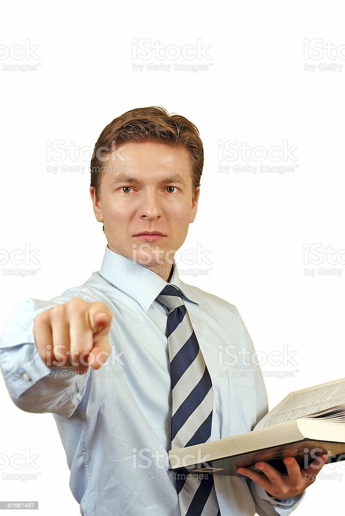 Young lawyer accusing  Adult Stock Photo