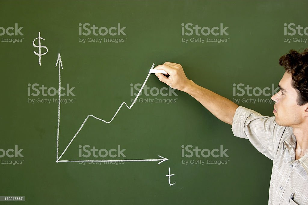 Young lecturer royalty-free stock photo
