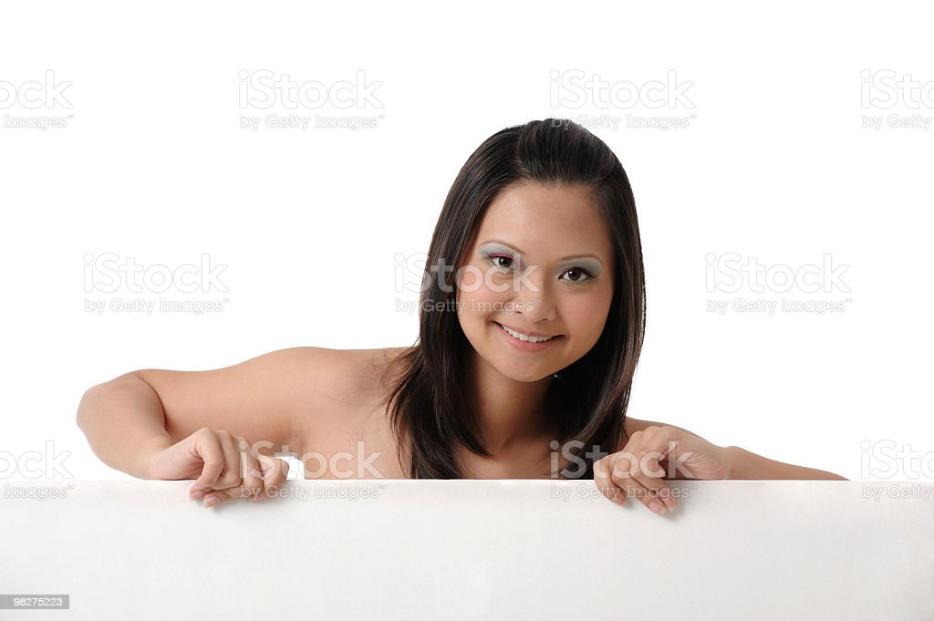 Young long hair Asian Chinese woman royalty-free stock photo