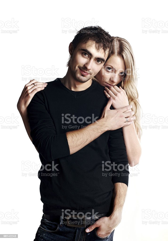 Young love couple smiling royalty-free stock photo