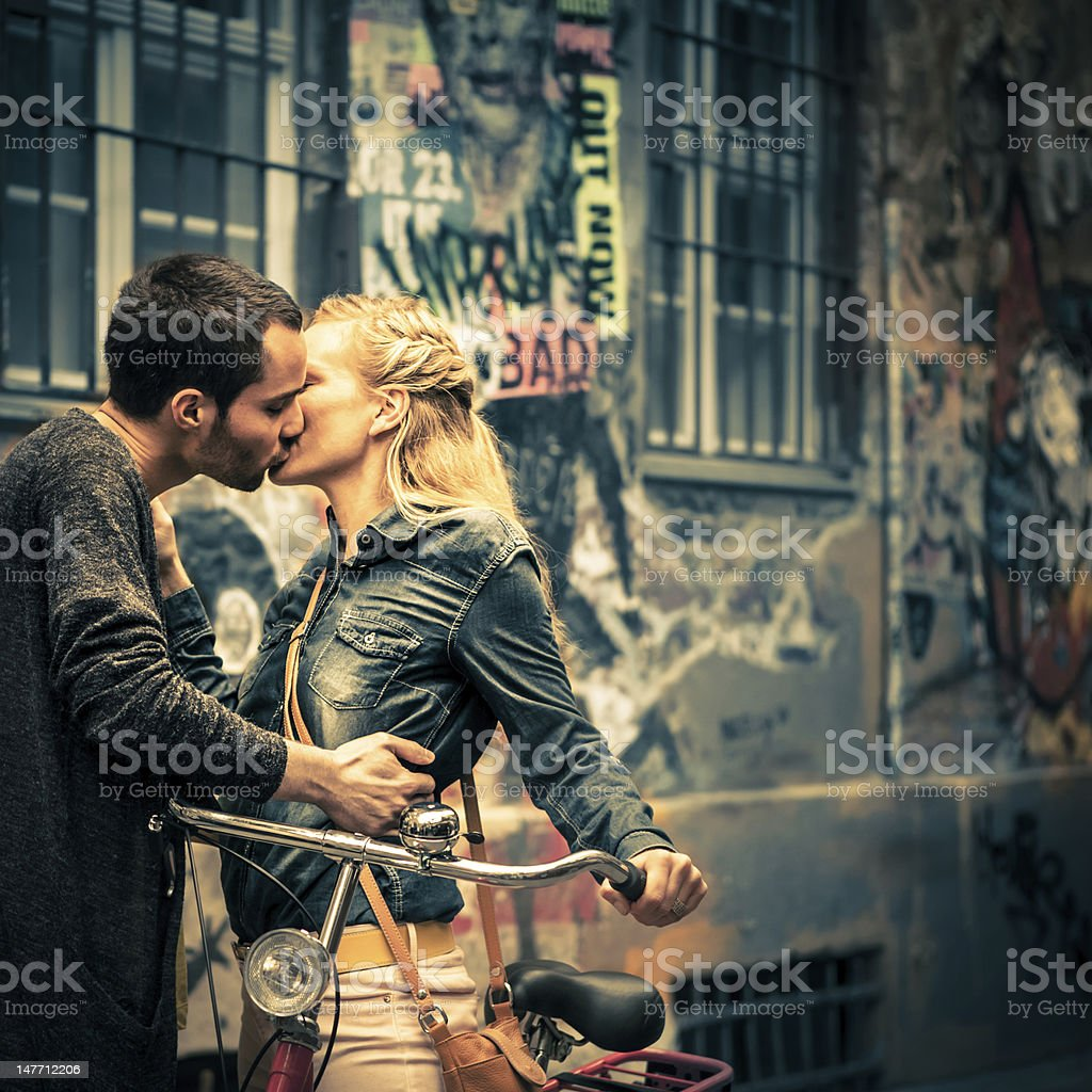 Young Love in Berlin royalty-free stock photo