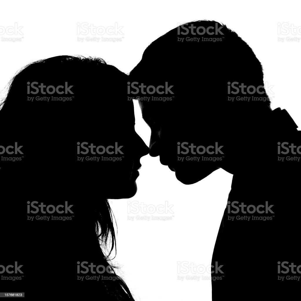 Young Love Silhouette - Anonymous stock photo