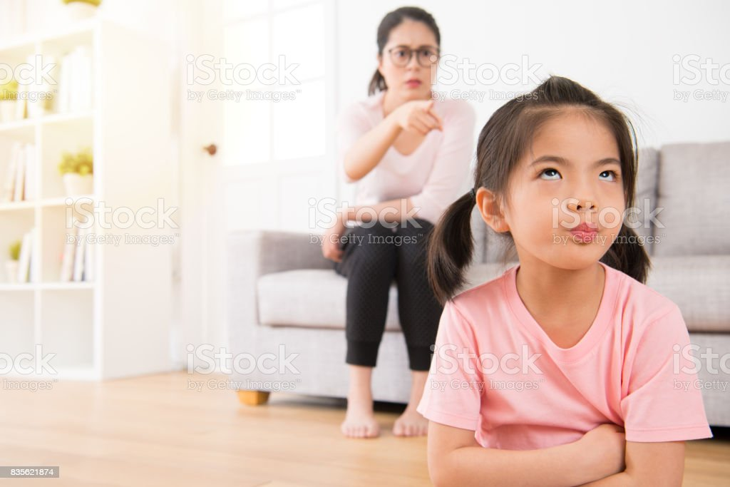 Young Lovely Children Was Bored At Home Stock Photo & More Pictures ...