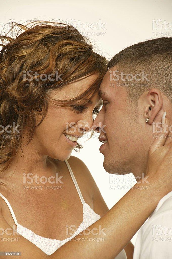 young loving couple headshot royalty-free stock photo