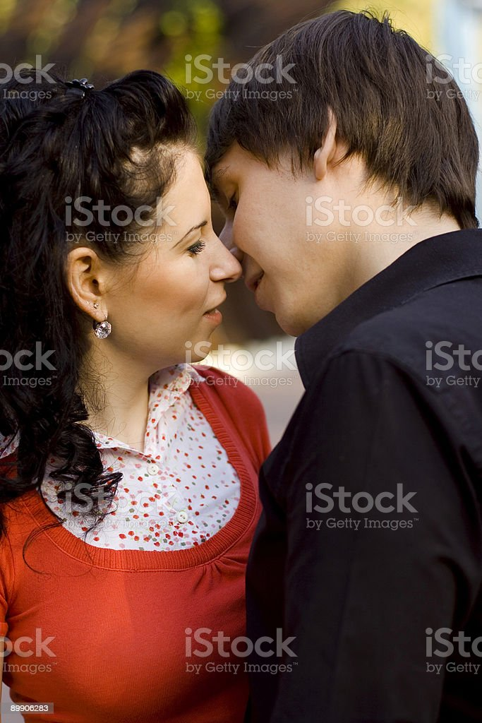 young loving couple royalty-free stock photo