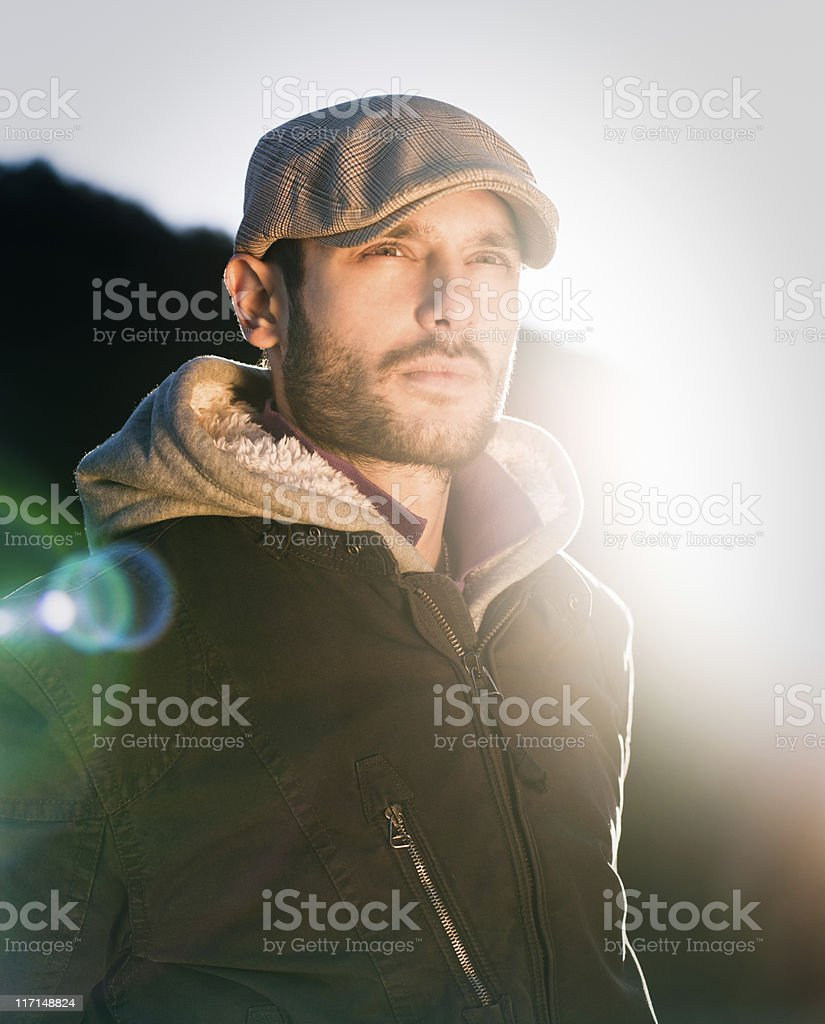 Young macho royalty-free stock photo