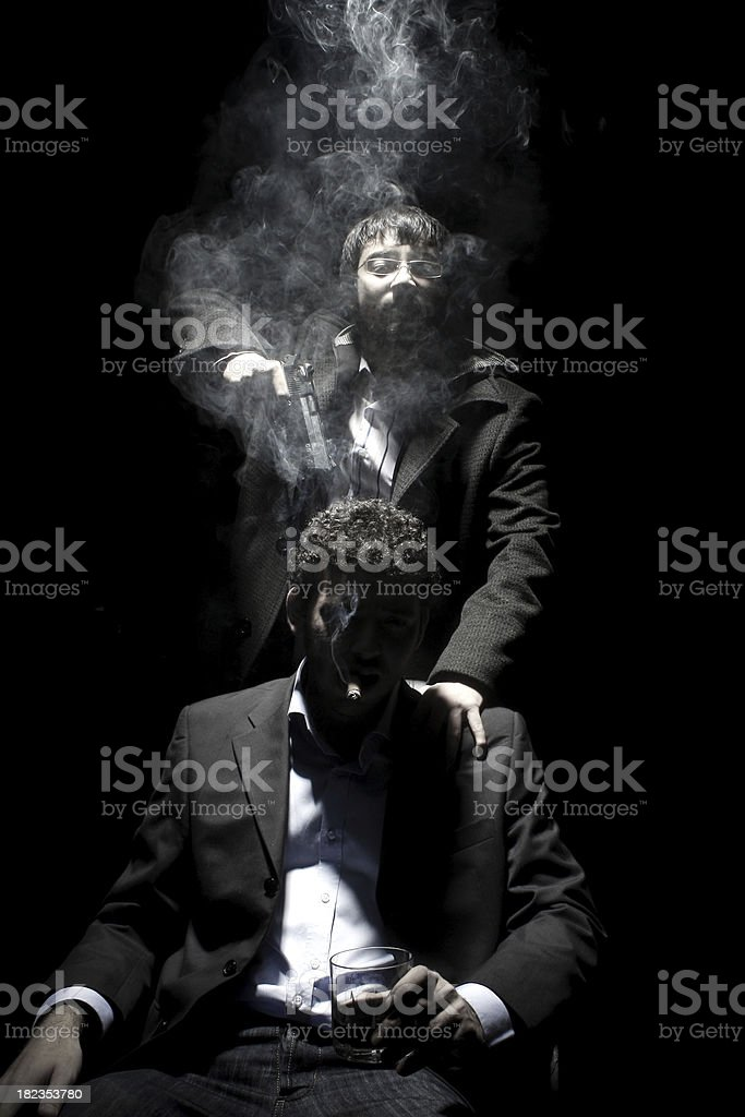 Young Mafia royalty-free stock photo