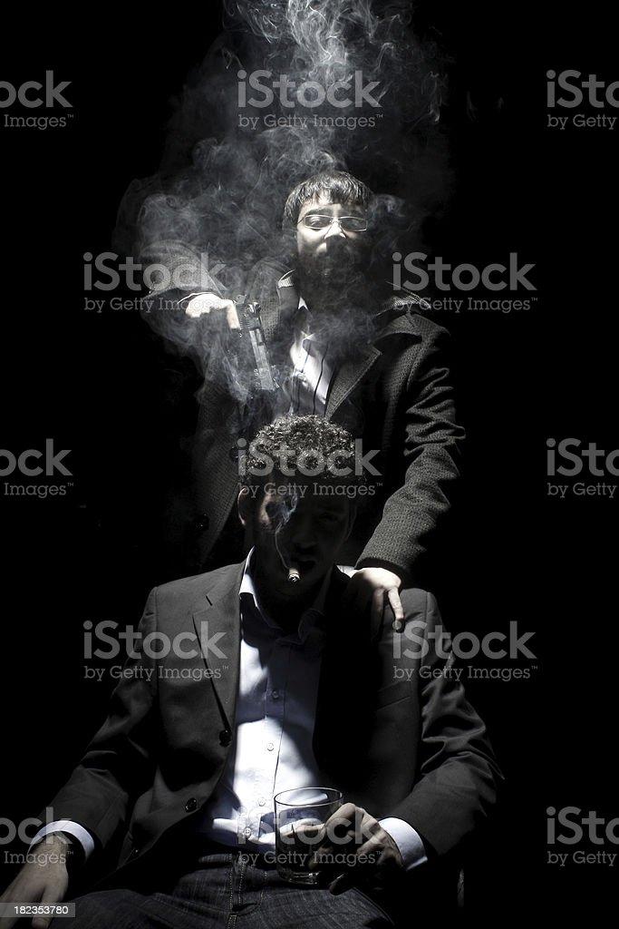 Young Mafia stock photo