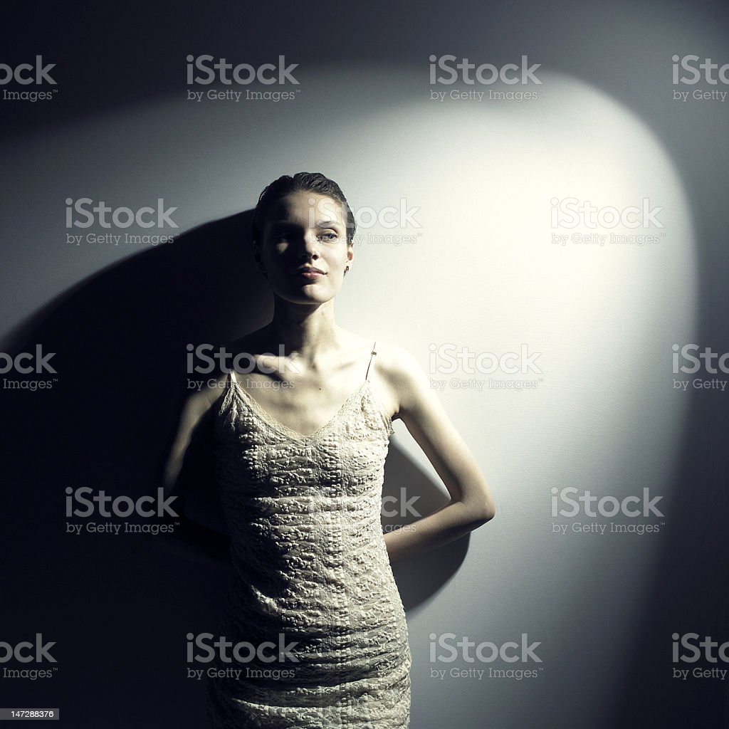 Young magnificent lady royalty-free stock photo