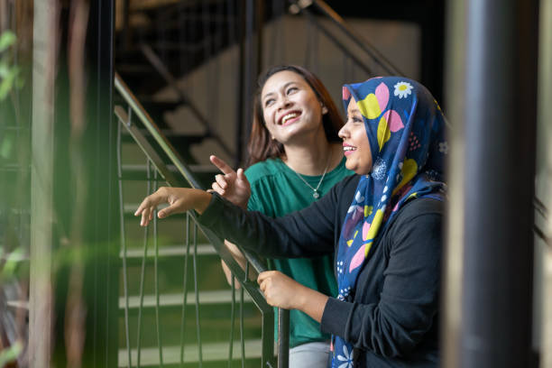 Young Malaysian Female Friends stock photo