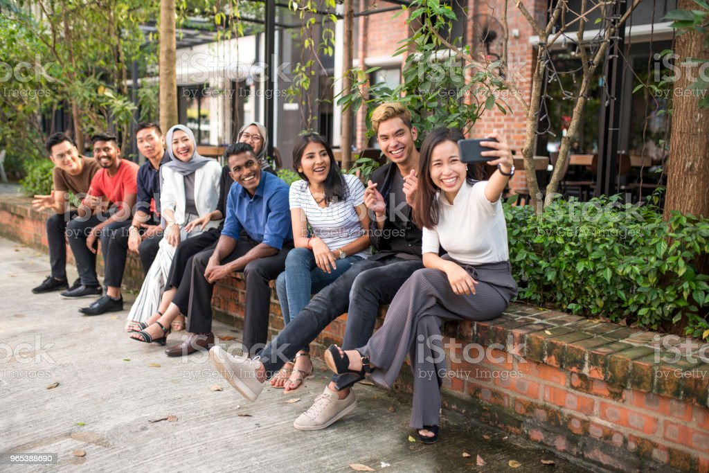 Young malaysian friends zbiór zdjęć royalty-free