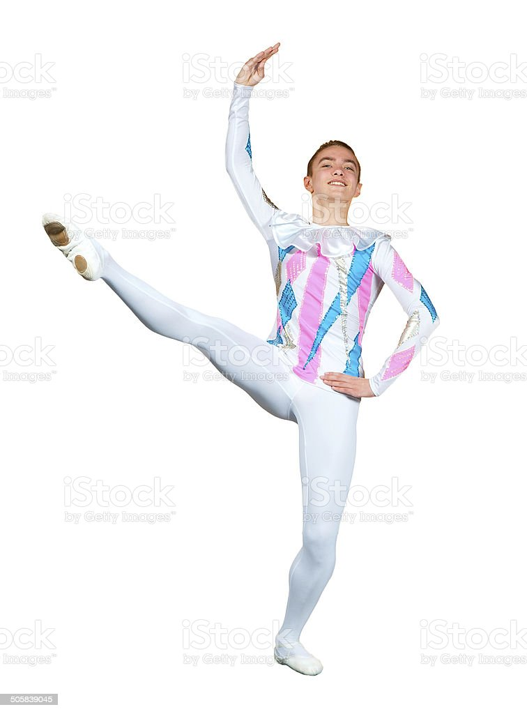 young male ballet dancer stock photo