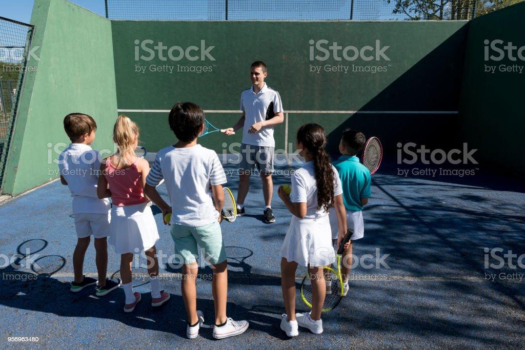 Tennis pro game.