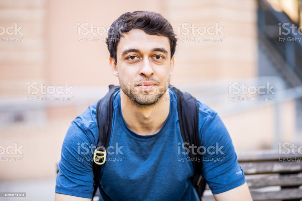 Young Male College Student stock photo