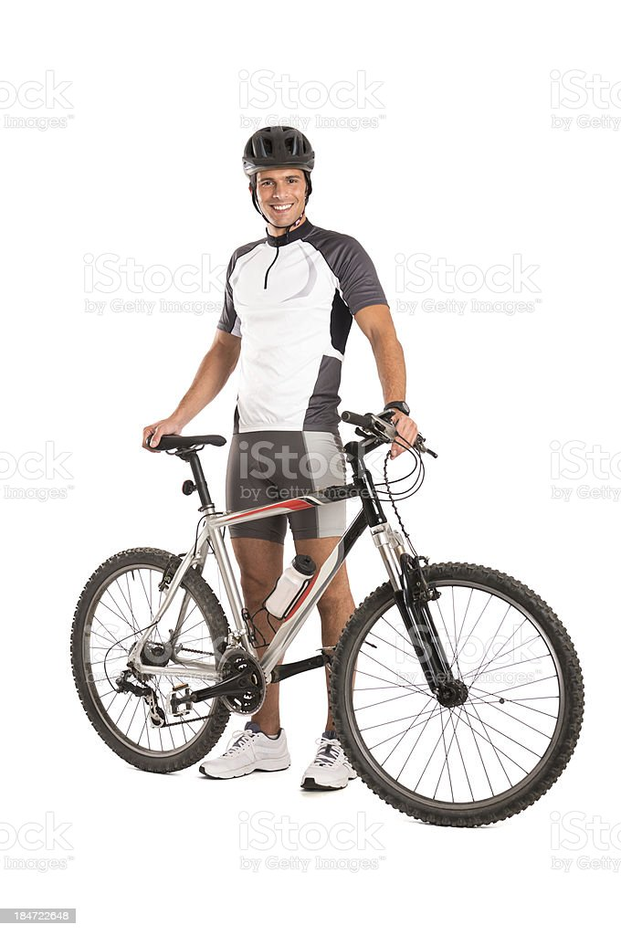 Young Male Cyclist stock photo