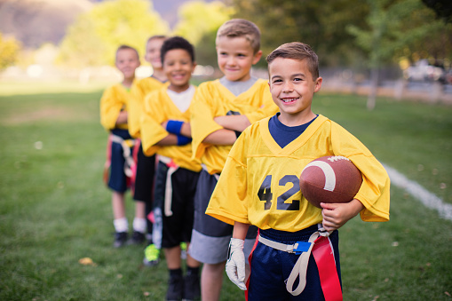 istock Young Male Flag Football Team 656638620