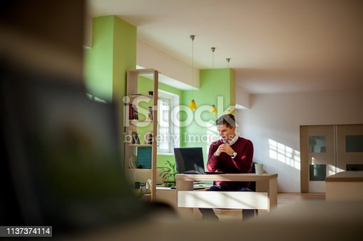932763106 istock photo Young male freelancer 1137374114