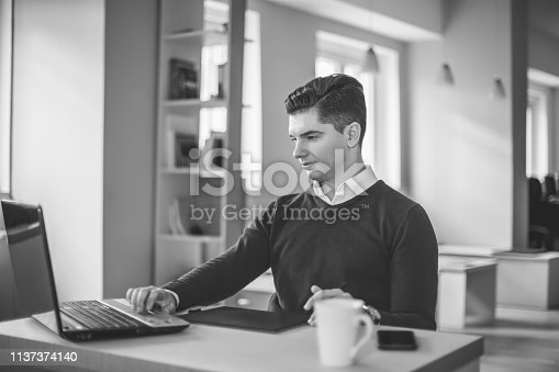 932763106 istock photo Young male freelancer 1137374140