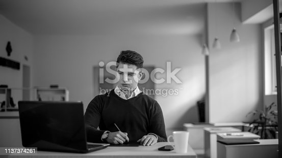 932763106 istock photo Young male freelancer 1137374261