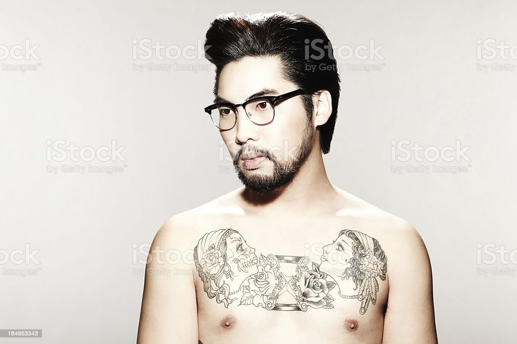 Young Male Model with Tattoos royalty-free stock photo