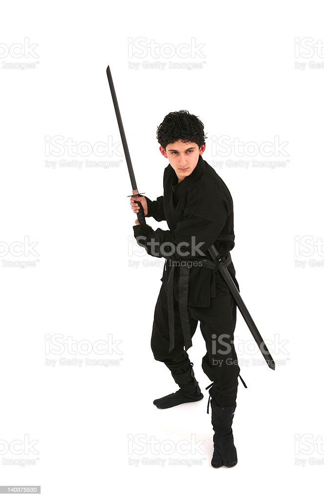 Young male Ninja stock photo