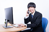 istock Young male office worker 1279084380