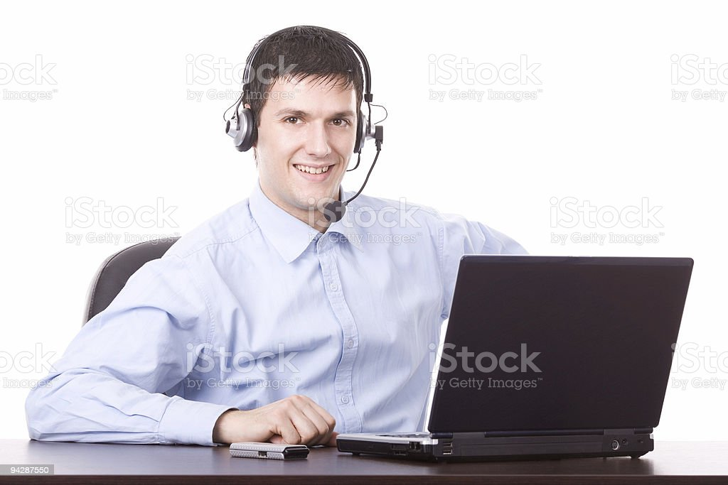 Young male operator royalty-free stock photo