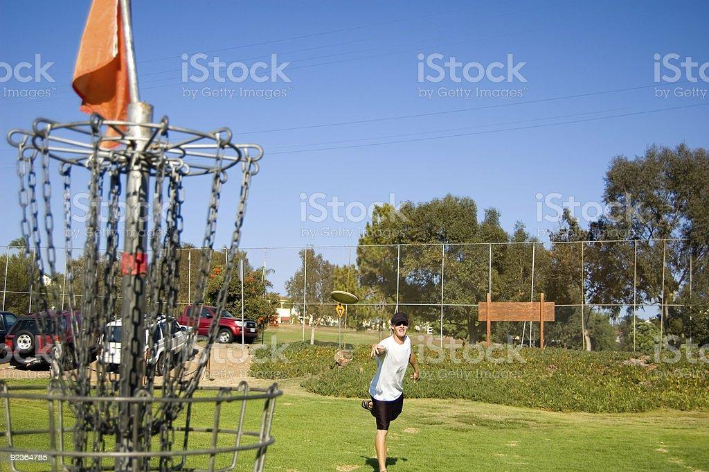 Frisbee Golf Lizenzfreies stock-foto