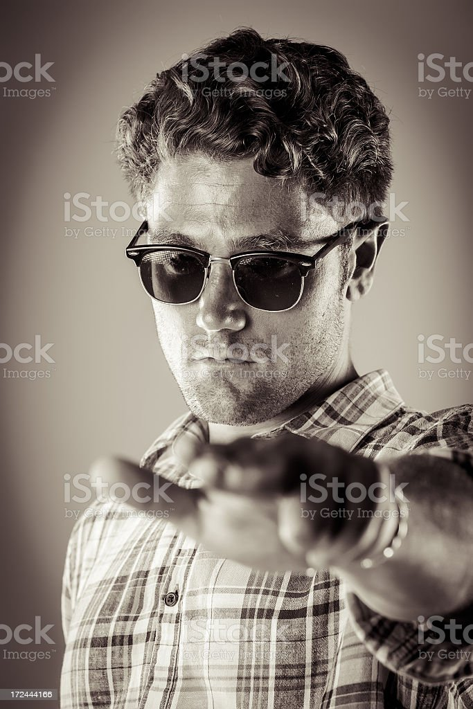 Young male pointing at you royalty-free stock photo