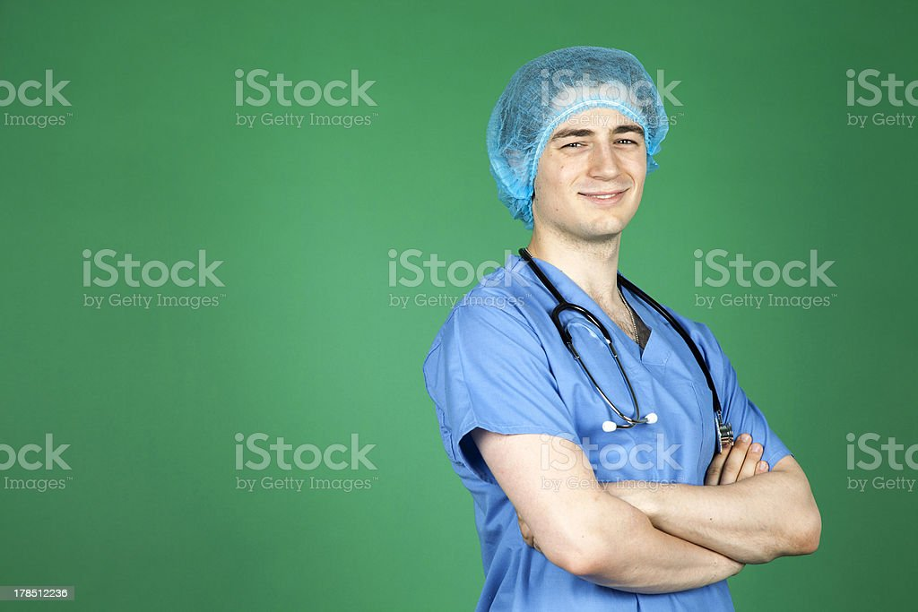 Young Male Surgeon royalty-free stock photo