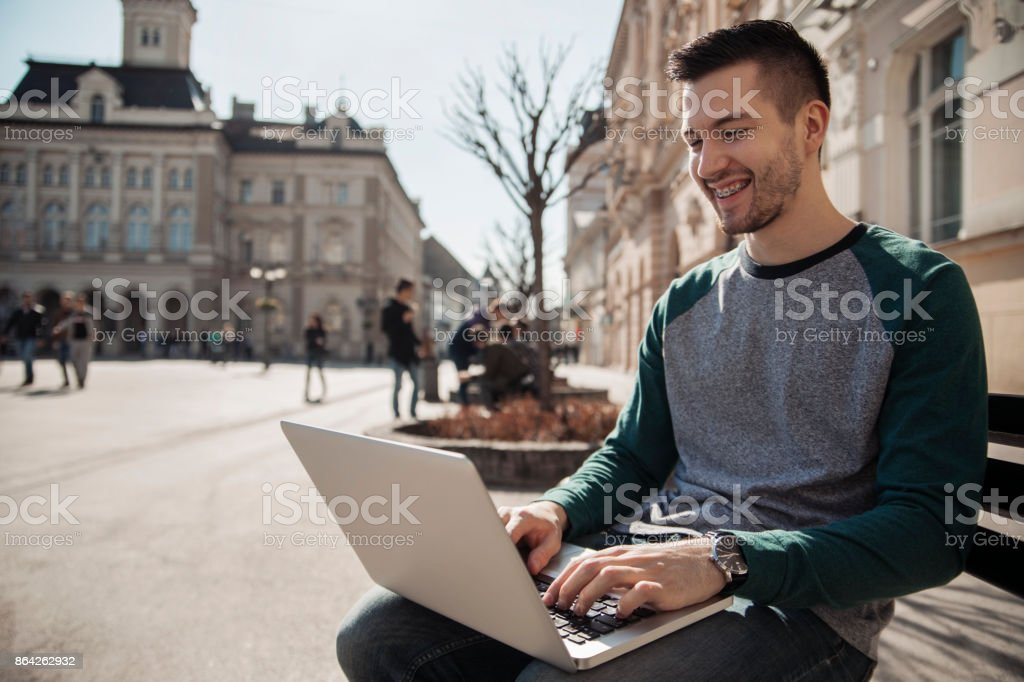 Young Male With Braces royalty-free stock photo