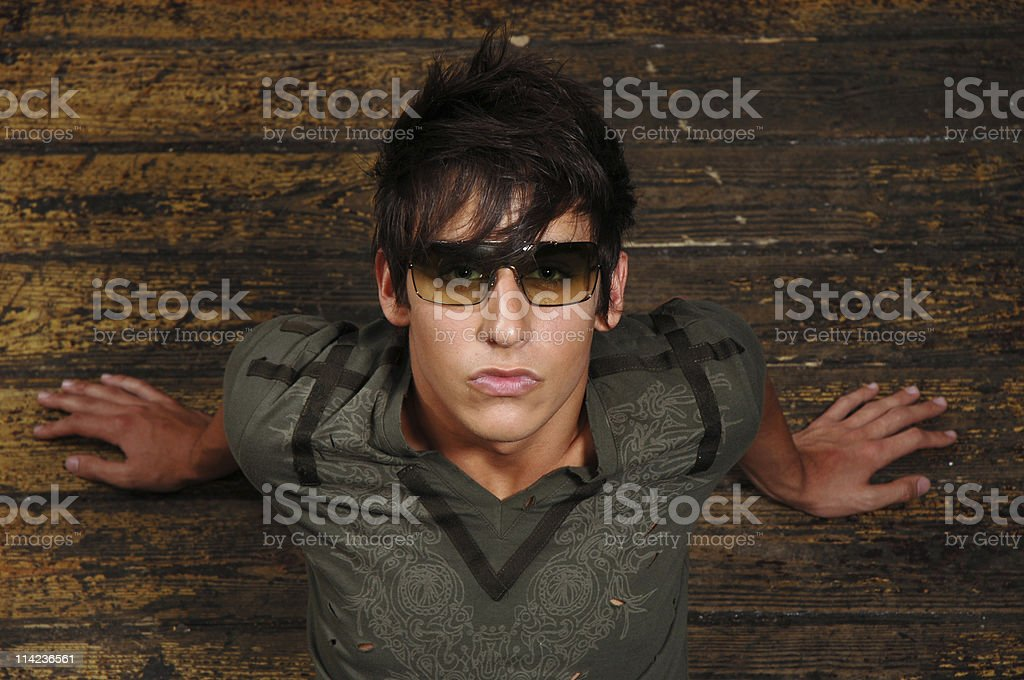 young male with glasses 03 royalty-free stock photo