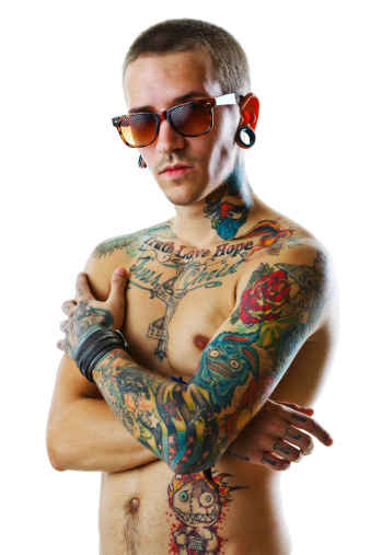 istock Young male with tattoos 156551652