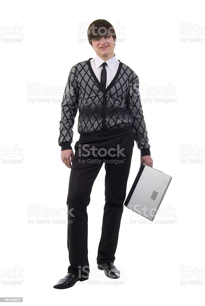Young Man And Laptop. royalty-free stock photo