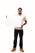 istock Young Man and Placard 835846004