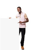 istock Young Man and Placard 835846756