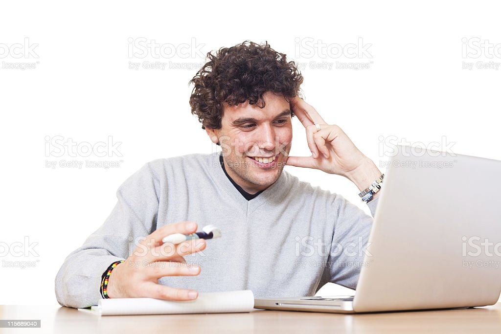 Young Man at Work in Office royalty-free stock photo