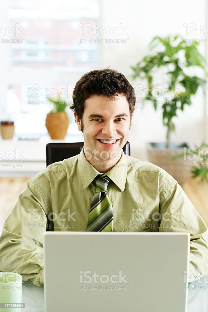 Young Man at Work royalty-free stock photo
