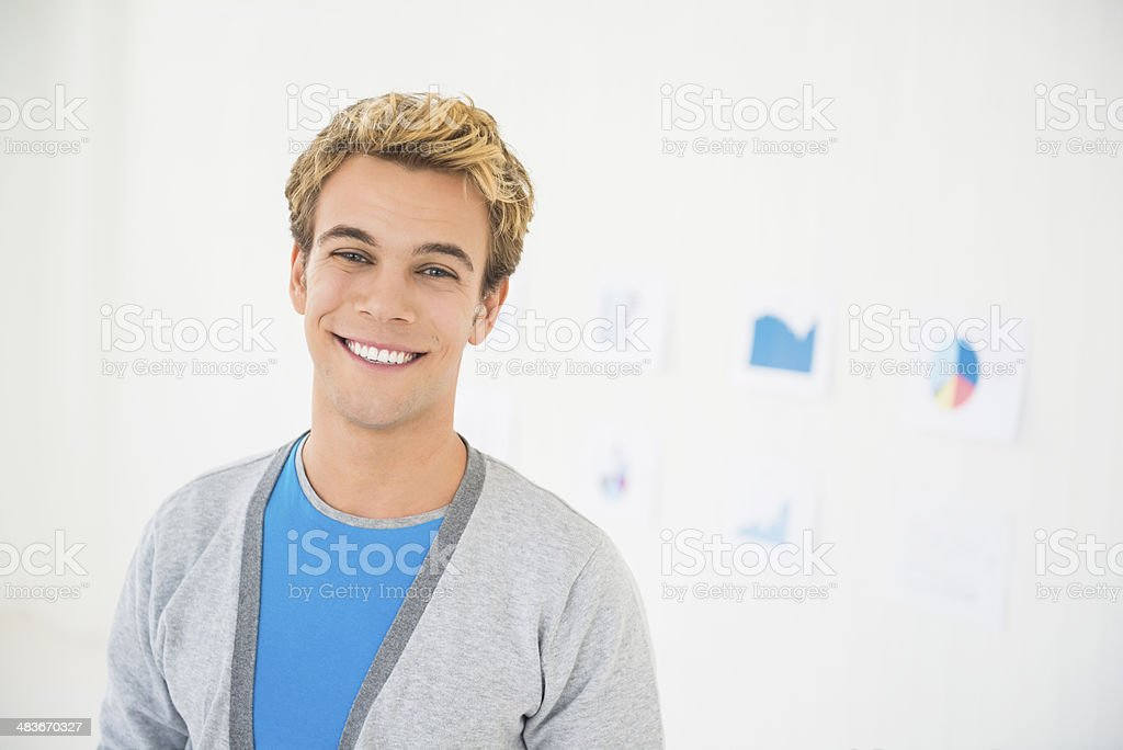 Young man at work royalty-free stock photo